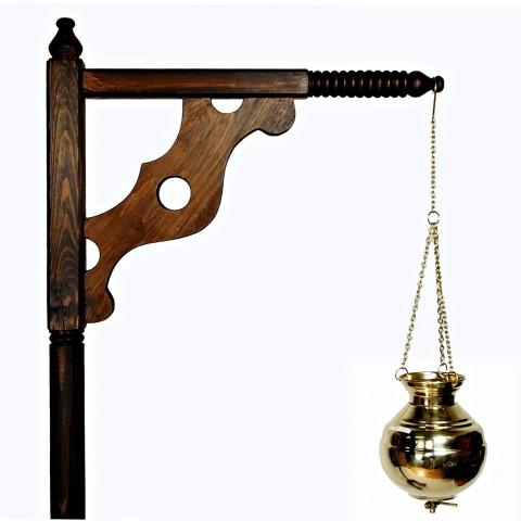 Shirodhara (Širodara) procedūros stovas Ayurveda Classic, kedras, rankų darbo