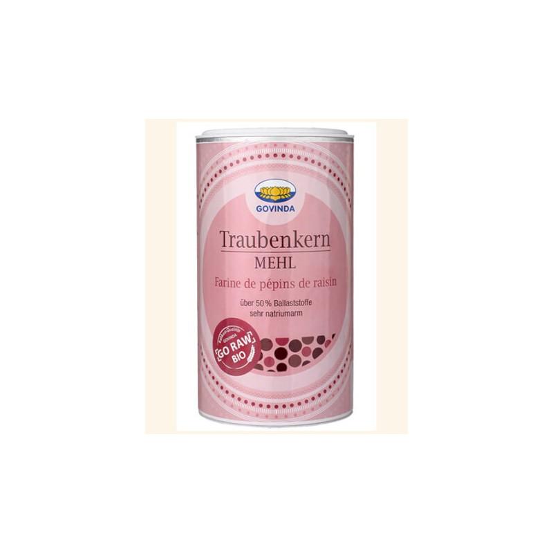 Vynuogių sėklų miltai, ekologiški, Govinda, 200g