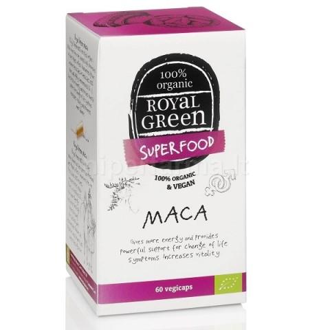 Maisto papildas BIO Maca, Royal Green, 60 kapsulių