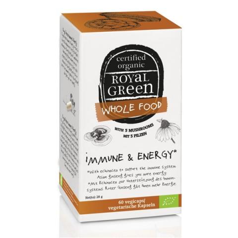Maisto papildas BIO Energija ir Imunitetas, Royal Green, 60 kapsulių