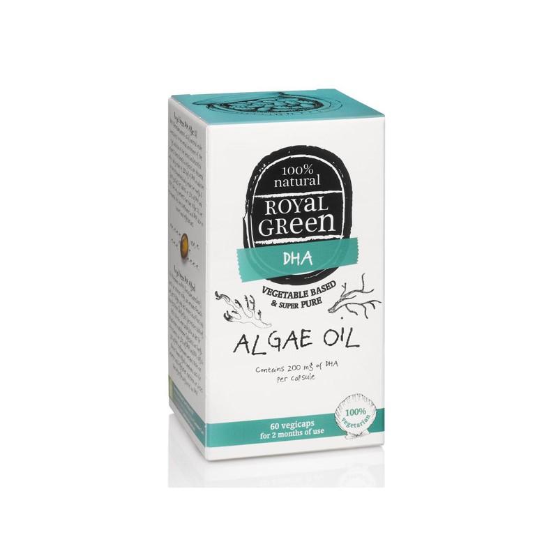 Maisto papildas Algae Oil Dumblių aliejus Omega-3 DHR, Royal Green, 60 kapsulių