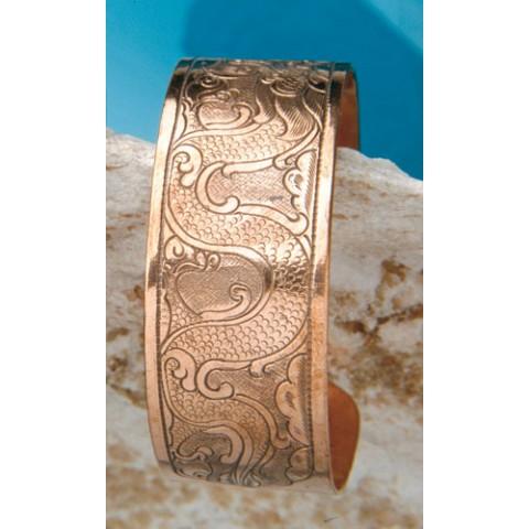 Varinė apyrankė su drakono raštu, 8mm