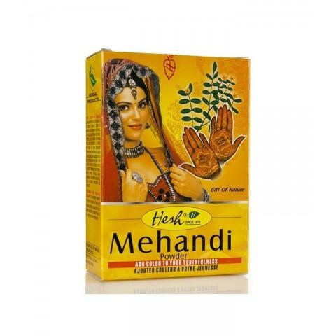 Chna (Mehandi) milteliai kūno piešimui ir plaukams, Hesh, 100g