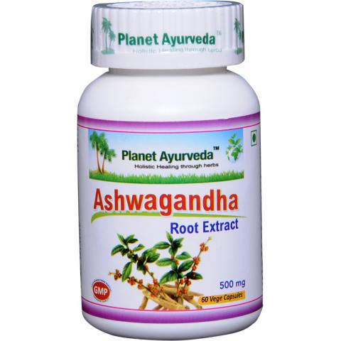 """Maisto papildas """"Ašvaganda"""" (Ashwagandha), Planet Ayurveda, 60 kapsulių"""