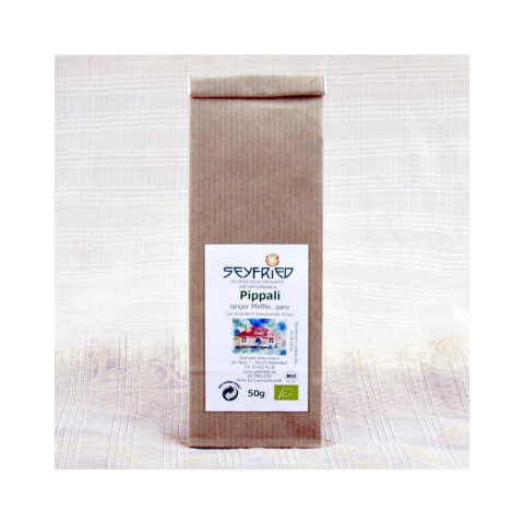 Pippali (ilgieji pipirai), nesmulkinti, ekologiški, Seyfried, 50 g