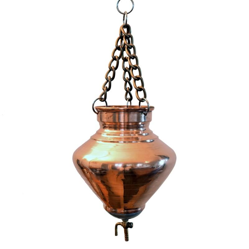 Shirodhara (Širodara) indas aliejui pilti, varinis, 1.5 ltr