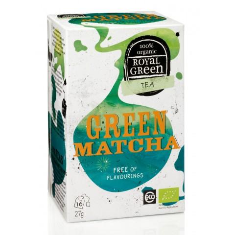 Ekologiška žalioji arbata Green Matcha, ROYAL GREEN, 16 pakelių
