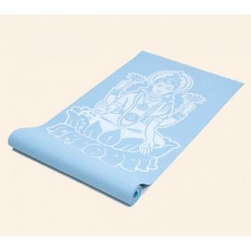 Jogos kilimėlis su deivės Lakšmės (Lakshmi) atvaizdu, dangaus žydrumo