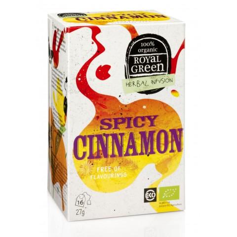 Ekologiška arbata su cinamonu Spicy Cinnamon, ROYAL GREEN, 16 pakelių