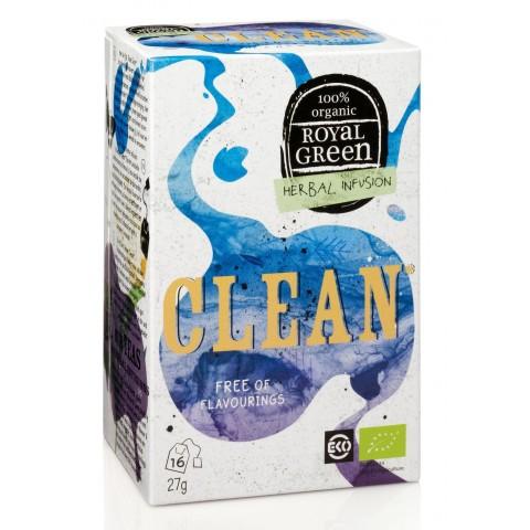 Ekologiška prieskoninė arbata Clean, ROYAL GREEN, 16 pakelių