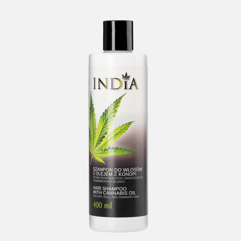 Plaukų šampūnas su kanapių aliejumi, India, 400 ml