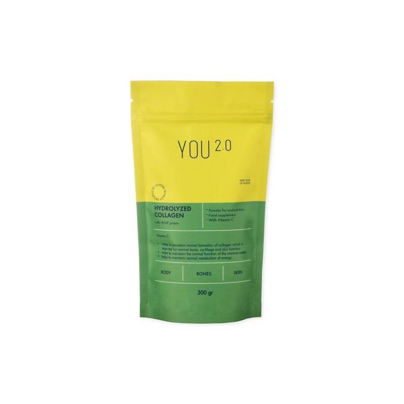 Hidrolizuotas kolagenas su kanapių baltymais, YOU 2.0, 300 g