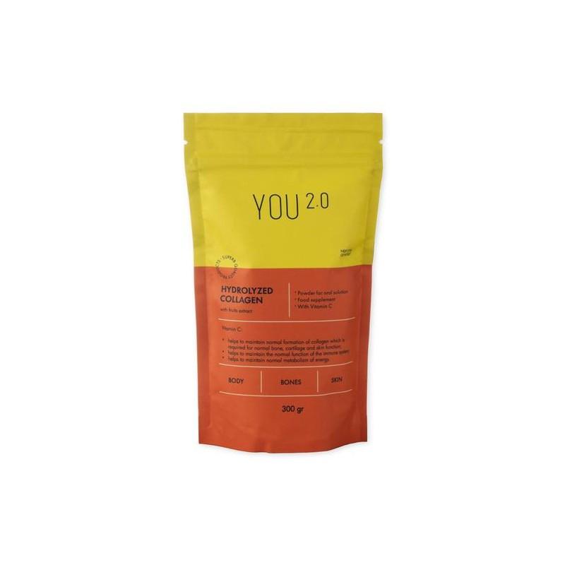 Hidrolizuotas kolagenas su vaisių ekstraktu, YOU 2.0, 300 g