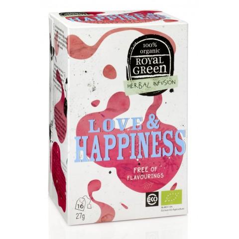 Ekologiška prieskoninė arbata Love&Happiness, ROYAL GREEN, 16 pakelių
