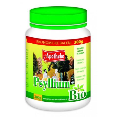 Ekologiškos balkšvojo gysločio (Psyllium husk) sėklų luobelės, Apotheke, 300g but.