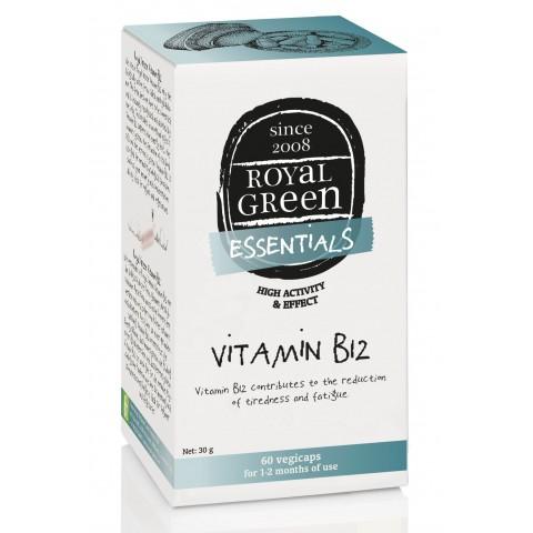Vitaminas B12 metilkobalaminas, Royal Green, 60 kapsulių