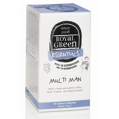 Multivitaminų vyrams kompleksas MULTI MAN, Royal Green, 60 kapsulių