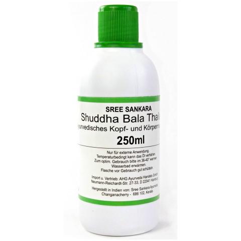 Ajurvedinis masažo aliejus Shuddha Bala Thailam, Sree Sankara, 250 ml