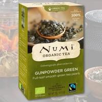 Gunpowder žalioji arbata Numi Tea, ekologiška, 18 pakelių