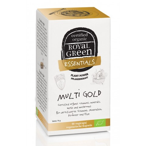 Multivitaminų kompleksas MULTI GOLD BIO, Royal Green, 90 kapsulių