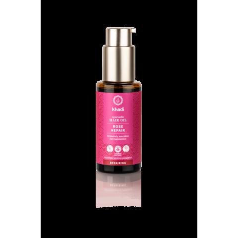 Atstatantis plaukų aliejus ROSE REPAIR, Khadi Naturprodukte, 50 ml