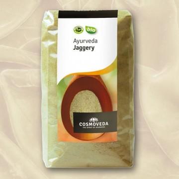 """Ekologiškas nerafinuotas cukranendrių cukrus """"Jaggery"""", Cosmoveda, 400 g"""