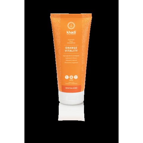 Ajurvedinis atgaivinantis šampūnas Orange Vitality Elixir, Khadi, 200 ml