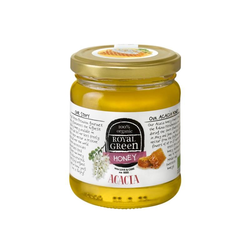 Akacijų medus iš Rumunijos/Vengrijos BIO, Royal Green, 250g