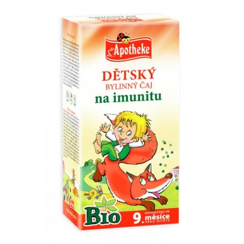 """Žolelių arbata vaikams """"Stipruolio"""" nuo 9 mėn., ekologiška, Apotheke, 20 pakelių"""