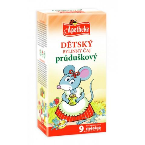"""Žolelių arbata vaikams """"Bronchata"""" nuo 9 mėn., ekologiška, Apotheke, 20 pakelių"""