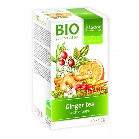 Imbierinė arbata su apelsinais, ekologiška, Apotheke, 20 pakelių