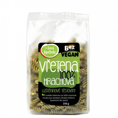 Žirnių makaronai 100% (sraigteliai), Green Apotheke, 250g