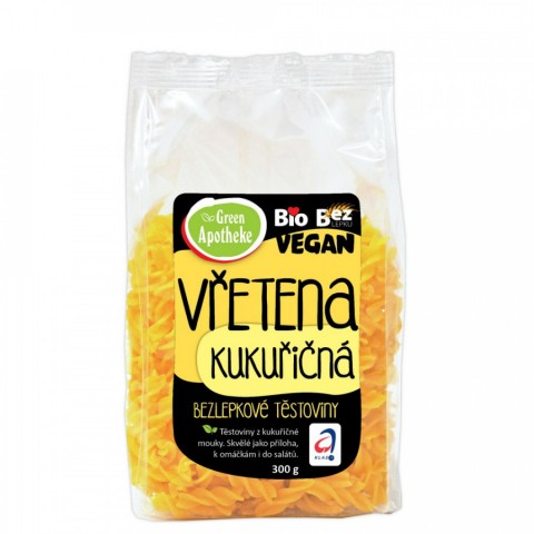 Kukurūzų makaronai 100% (sraigteliai), ekologiški, Green Apotheke, 300g