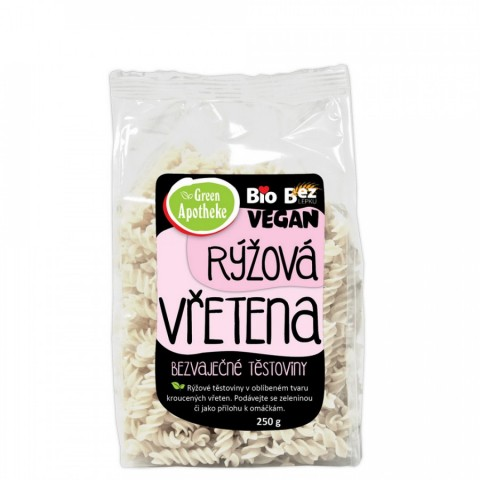 Ryžių makaronai (sraigteliai), ekologiški, Green Apotheke, 250g