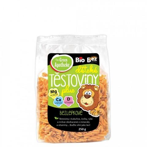 Vaikiški makaronai su vitaminais ir mineralais LIŪTAS (sraigteliai), ekologiški, Green Apotheke, 250g