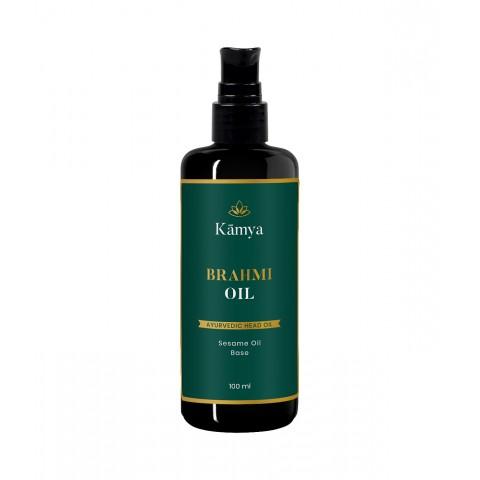 """Protą raminantis galvos masažo aliejus """"Brahmi"""", Kamya, 100ml"""