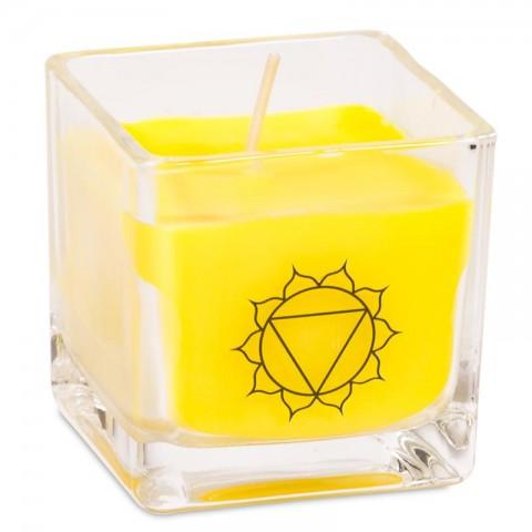 """Ekologiška rapsų vaško kvepianti žvakė """"Manipura chakra"""""""