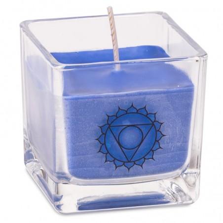 """Ekologiška rapsų vaško kvepianti žvakė """"Vishuddha chakra"""""""
