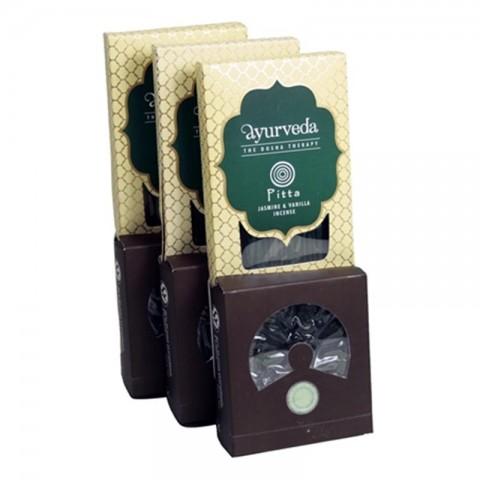 Ajurvedinių smilkalų lazdelių ir kūgių rinkinys Jasmine & Vanilla (Pita)