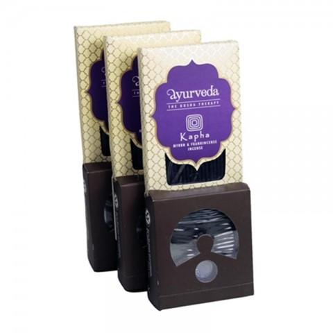 Ajurvedinių smilkalų lazdelių ir kūgių rinkinys Myrrh & Frankincense (Kapha)