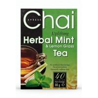 Mėtos, pipirmėtės ir citrinžolės žolelių arbata, Chai Xpress, 40 pakelių