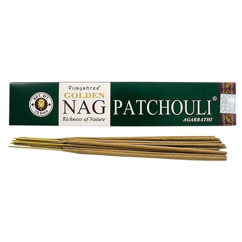 Pačiulio smilkalų lazdelės NAG PATCHOULI, Golden, 15g