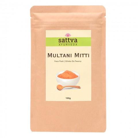 Fulerio žemės milteliai veido kaukei Multani Mitti, Sattva, 100g
