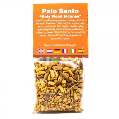 Palo Santo šventos medienos gabaliukai smilkymui, mažos, 20g