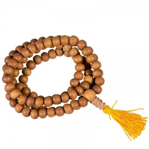 Santalo medžio maldos karoliukai, 108 karoliukai