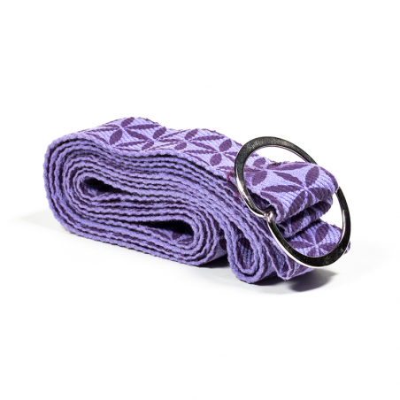 """Jogos pagalbinis diržas D-ring """"Gyvenimo gėlė"""", Yogi & Yogini, 183x4cm"""