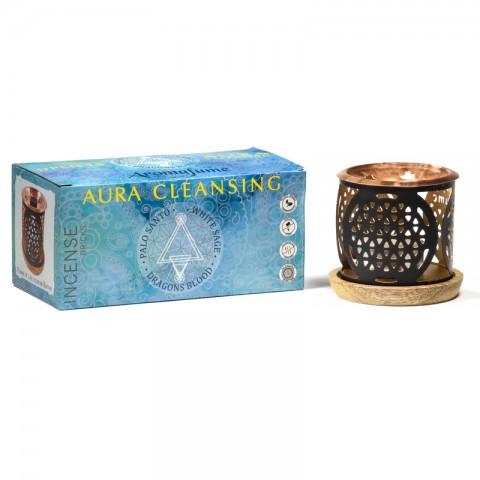 Smilkalų kaladėlių laikiklis ir rinkinys Aura Cleansing, Aromafume