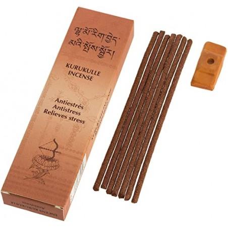 Tibeto smilkalų lazdelės Kurukulle Relieves Stress, su laikikliu, 20 lazdelių