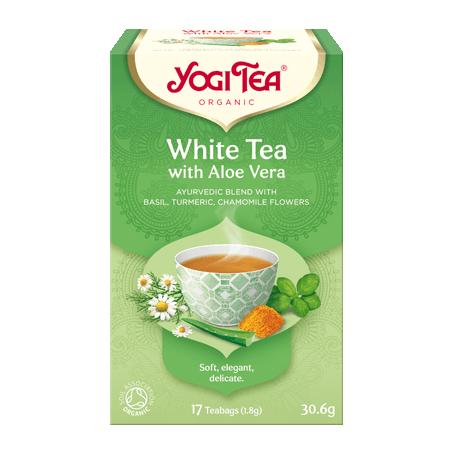 Baltoji arbata su alavijais White Tea Aloe Vera, Yogi Tea, 17 pakelių