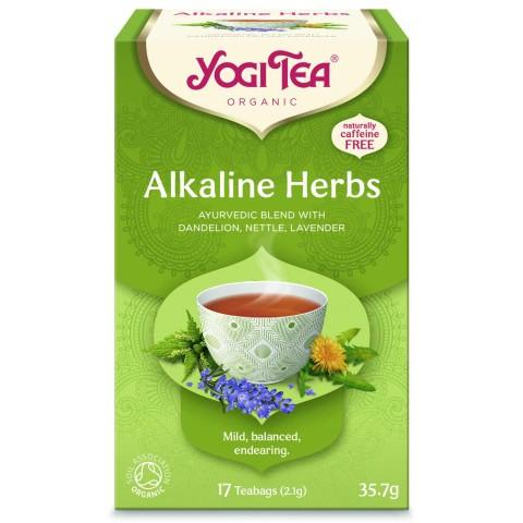 Šarminių žolelių arbata Alkaline Herbs, Yogi Tea, 17 pakelių